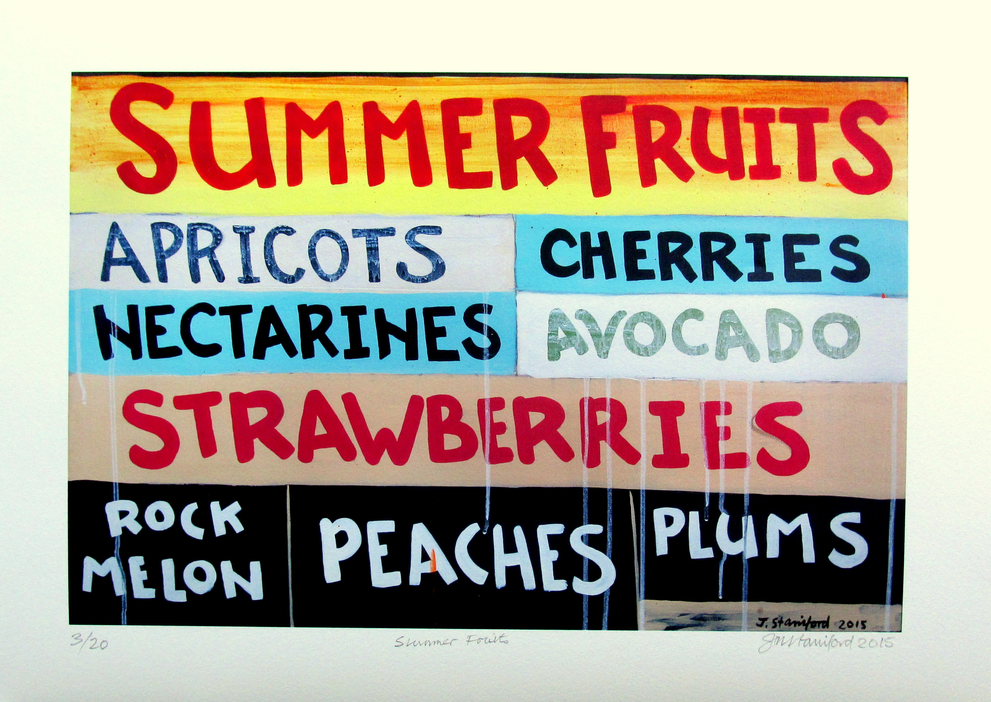 SUMMER FRUITS Limited Edition Prints